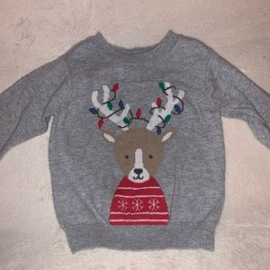 Christmas Reindeer sweater outfit 6m